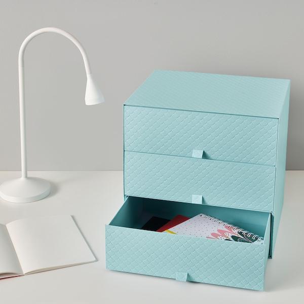 PALLRA Minilipasto, 3 laatikkoa, vaaleansininen, 31x26x31 cm