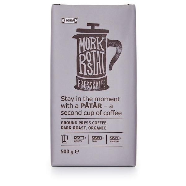 PÅTÅR Pressokahvi, tumma paahto, luomu/UTZ-sertifioitu/100 % Arabica-pavut