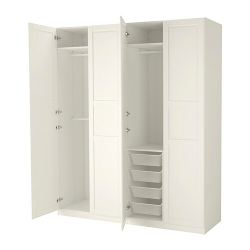 PAX Vaatekaappi  200x60x236 cm, sarana, pehmeästi sulkeutuva  IKEA
