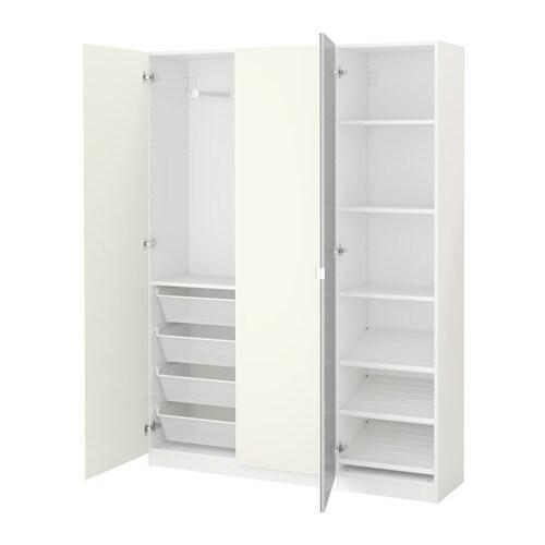 PAX Vaatekaappi  150x38x201 cm, sarana, pehmeästi sulkeutuva  IKEA
