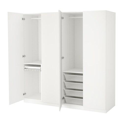 PAX Vaatekaappi  200x60x201 cm, sarana, pehmeästi sulkeutuva  IKEA