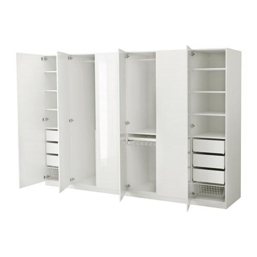 PAX Vaatekaappi  300x60x201 cm, perussaranat  IKEA