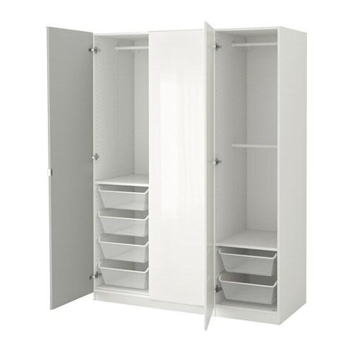 PAX Vaatekaappi  150x60x201 cm, sarana, pehmeästi sulkeutuva  IKEA