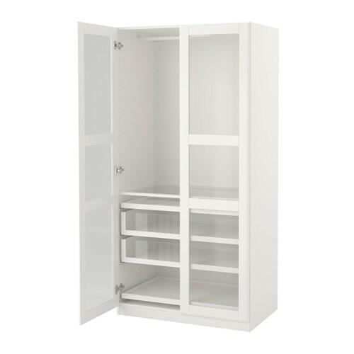 PAX Vaatekaappi  100x60x201 cm, sarana, pehmeästi sulkeutuva  IKEA
