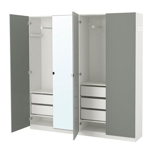 PAX Vaatekaappi  200x38x201 cm, sarana, pehmeästi sulkeutuva  IKEA
