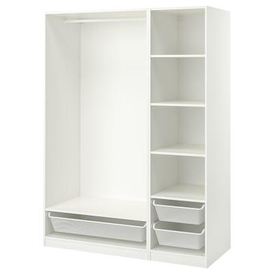 PAX Vaatekaappikokonaisuus, valkoinen, 150x58x201 cm