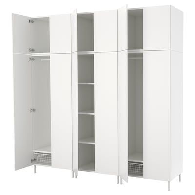 PLATSA Vaatekaappi, valkoinen/Fonnes valkoinen, 240x57x251 cm