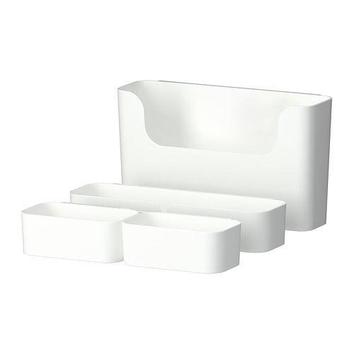 PLUGGIS Säilytysastiasetti 7o IKEA Soveltuvat kaikenlaisten pikkutavaroiden säilyttämiseen kodin eri tiloissa.