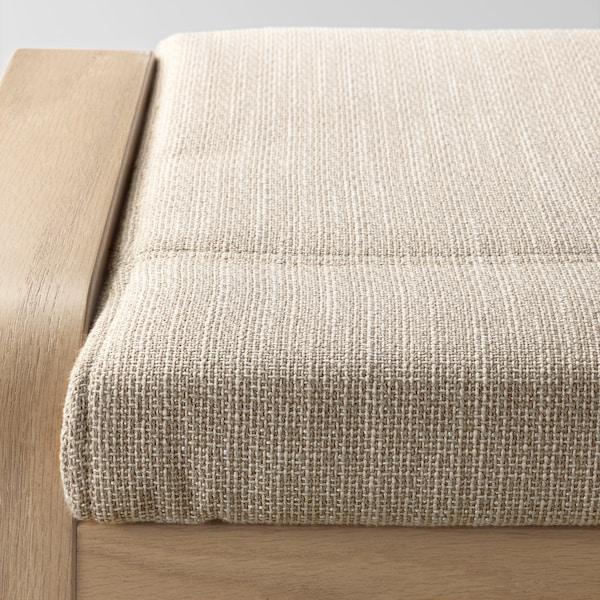 POÄNG Rahi, vaaleaksi petsattu tammiviilu/Hillared beige