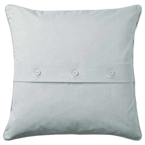 PRAKTBRÄCKA Koristetyyny, valkoinen/vaaleanharmaa, 50x50 cm