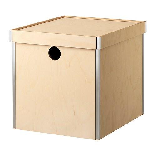 PRÄNT Kannellinen laatikko IKEA Soveltuu hyvin esimerkiksi lehtien ja valokuvien säilyttämiseen.