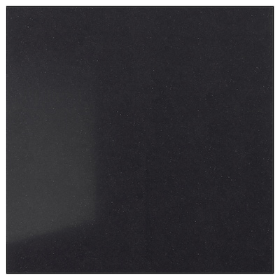 RÅHULT Mittatilausseinälevy, musta kivikuvio/kvartsi, 1 m²x1.2 cm