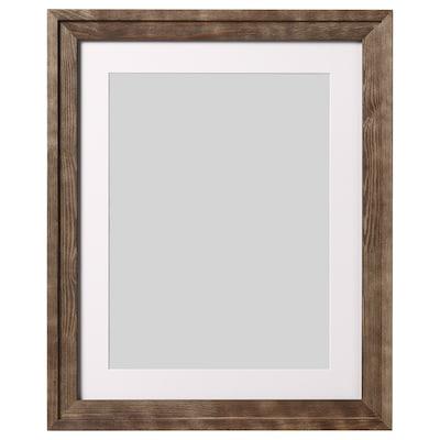 RAMSBORG Kehys ja kehyskartonki, ruskea, 40x50 cm