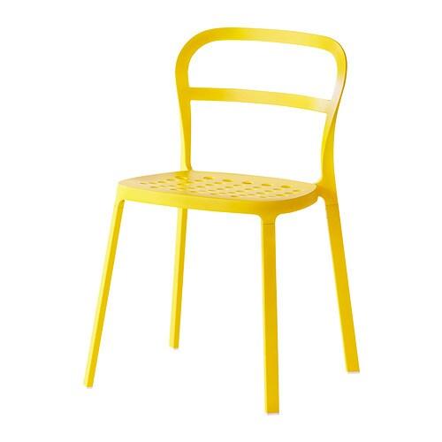 REIDAR Tuoli, sisä ulkokäyttöön  keltainen  IKEA