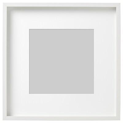 RIBBA kehys ja kehyskartonki valkoinen 50 cm 50 cm 30 cm 30 cm 29 cm 29 cm 4.5 cm 52 cm 52 cm