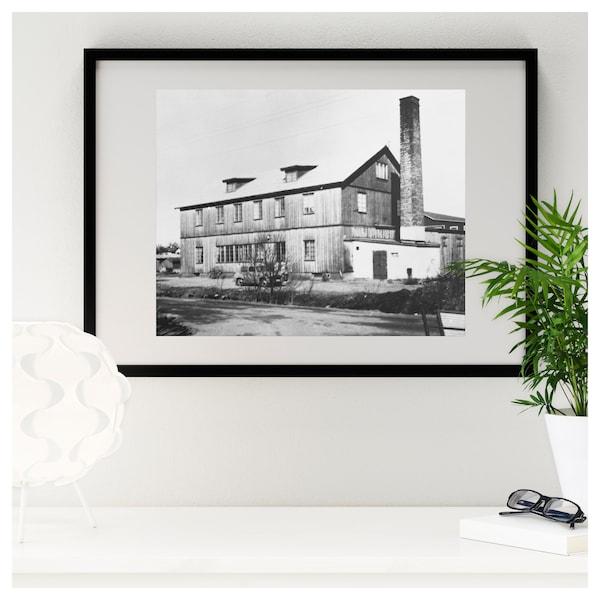 RIBBA Kehys ja kehyskartonki, musta, 50x70 cm