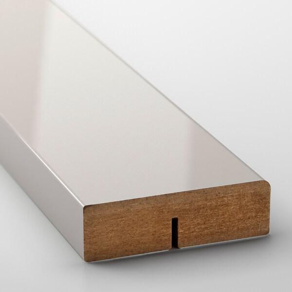 RINGHULT Pyöristetty koristelista, korkeakiilto vaaleanharmaa, 221 cm