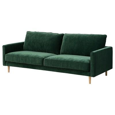 RINGSTORP 3:n istuttava sohva, tummanvihreä/luonnonvärinen