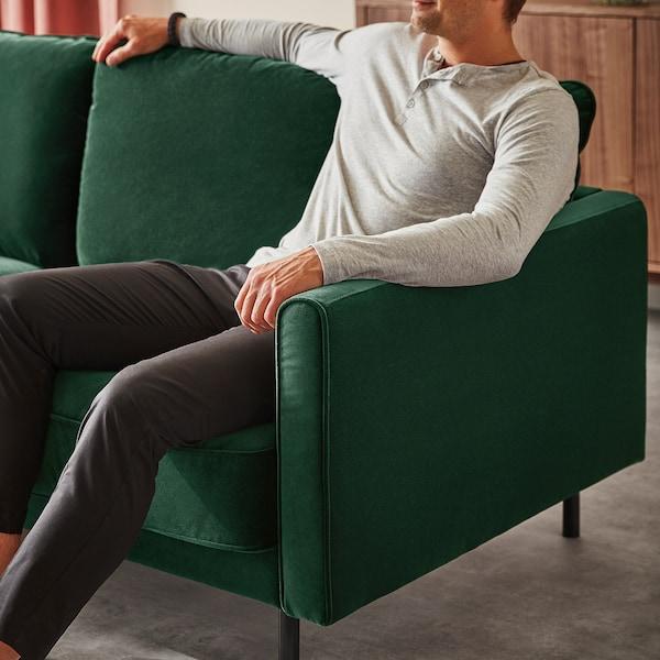 RINGSTORP 4:n istuttava sohva divaanin kanssa/tummanvihreä luonnonvärinen 83 cm 62 cm 148 cm 323 cm 148 cm 103 cm 15 cm 9 cm 62 cm 305 cm 59 cm 44 cm