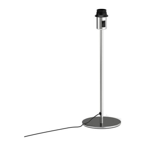 RODD Pöytävalaisimen jalka , nikkelöity Korkeus: 45 cm Pohjan halkaisija: 16 cm Johdon pituus: 2.0 m