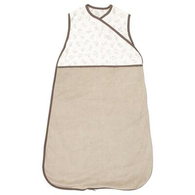 RÖDHAKE Unipussi, beige/jäniskuvio, 0-6