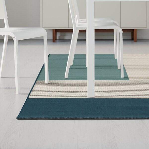 ROSKILDE matto, kudottu sisä-/ulkokäyttöön vihreänsininen 250 cm 200 cm 5 mm 5.00 m² 1600 g/m²