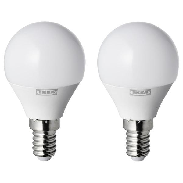 RYET Led-lamppu E14 250 lm, pallo opaalinvalkoinen, 2 kpl