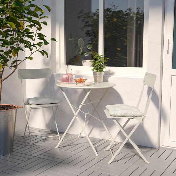 SALTHOLMEN ulkokalustesetti (pöytä/2 taittotu) beige/Kuddarna beige