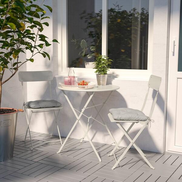 SALTHOLMEN Ulkokalustesetti (pöytä/2 taittotu), beige