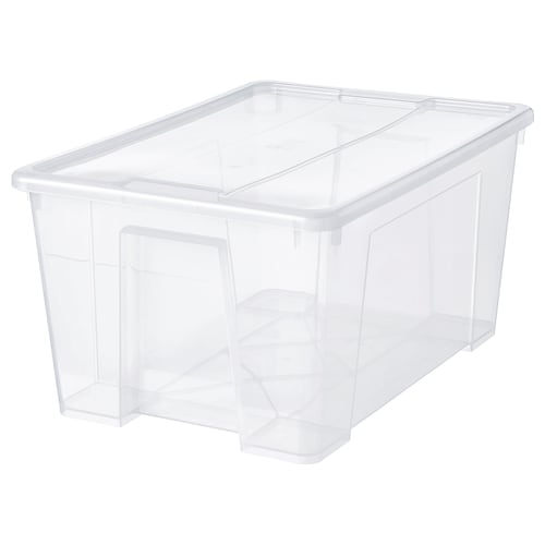 IKEA SAMLA Kannellinen laatikko