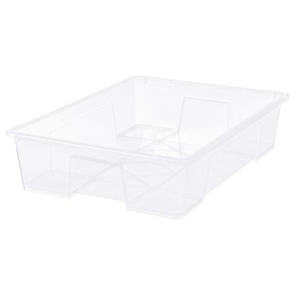 SAMLA Laatikko, läpikuultava, 78x56x18 cm/55 l
