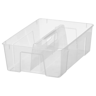 SAMLA Lisälaatikko (11/22 l), läpikuultava, 37x25x12 cm