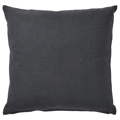SANDTRAV Koristetyyny, tummanharmaa/harmaa, 45x45 cm