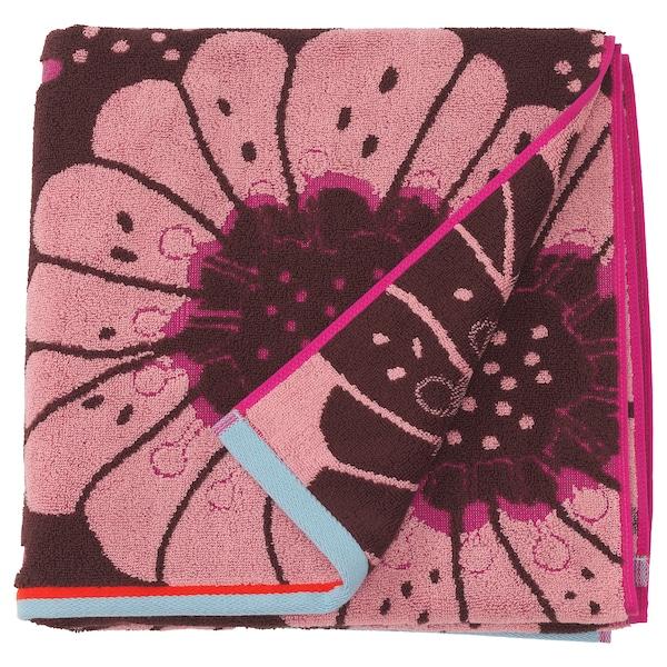SANDVILAN Kylpypyyhe, roosa/monivärinen, 70x140 cm