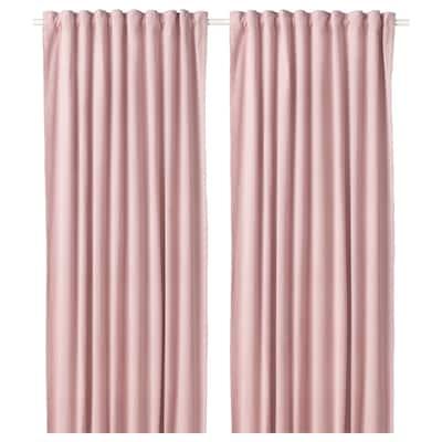 SANELA Osittain pimentävät verhot, 2 kpl, vaalea roosa, 140x250 cm