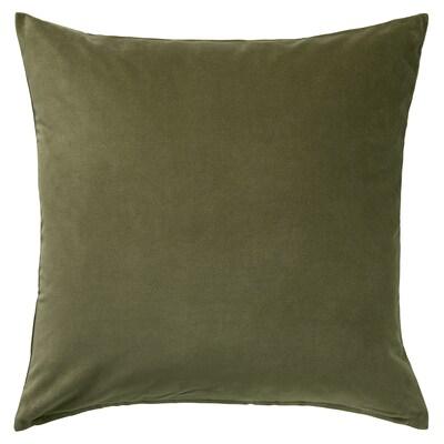 SANELA Tyynynpäällinen, oliivinvihreä, 50x50 cm