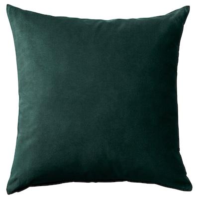 SANELA Tyynynpäällinen, tummanvihreä, 50x50 cm