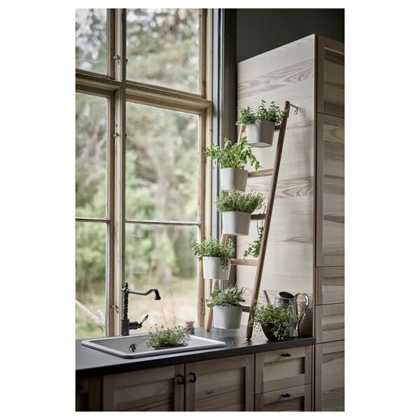 SATSUMAS Kukkajalka 5 ruukulla, bambu/valkoinen, 125 cm