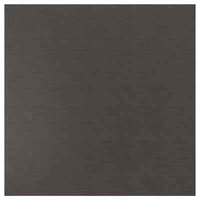 SIBBARP Mittatilausseinälevy, tummanharmaa pellavakuvio/laminaatti, 1 m²x1.3 cm