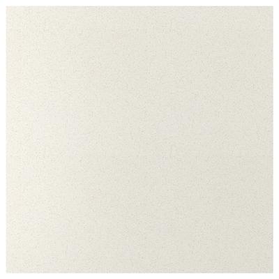 SIBBARP Mittatilausseinälevy, valkoinen kivikuvio/laminaatti, 1 m²x1.3 cm