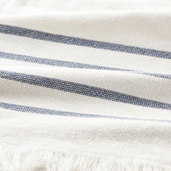 SIESJÖN Käsipyyhe, valkoinen/sininen raita, 40x70 cm