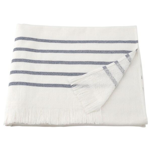 SIESJÖN Kylpypyyhe iso, valkoinen/sininen raita, 100x150 cm