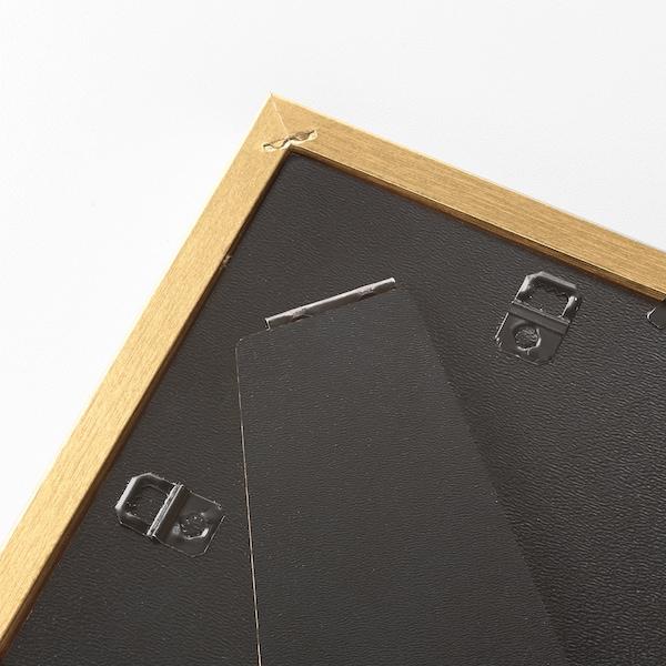 SILVERHÖJDEN Kehys ja kehyskartonki, kulta, 13x18 cm