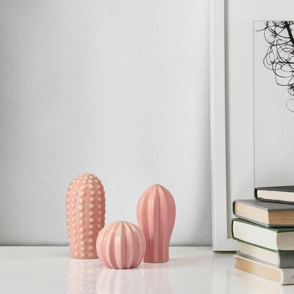 SJÄLSLIGT Koristeet, 3 kpl, mini roosa