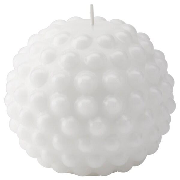 SKÅRAD Pöytäkynttilä, pyöreä/valkoinen, 9 cm