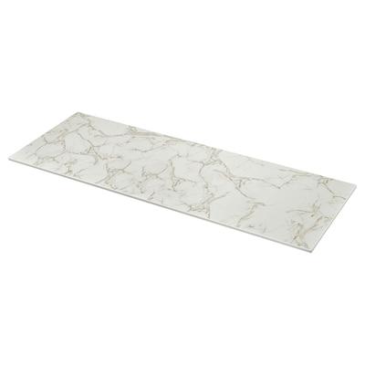 SKARARP Mittatilaustyötaso, matta valkoinen/marmorikuvio keramiikka, 1 m²x2.0 cm