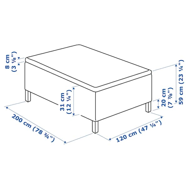 SKÅRER Patja + sijauspatja, kiinteä/Tussöy, 120x200 cm