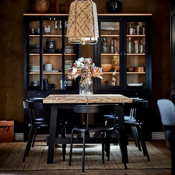 SKOGSTA Ruokapöytä, akasia, 235x100 cm