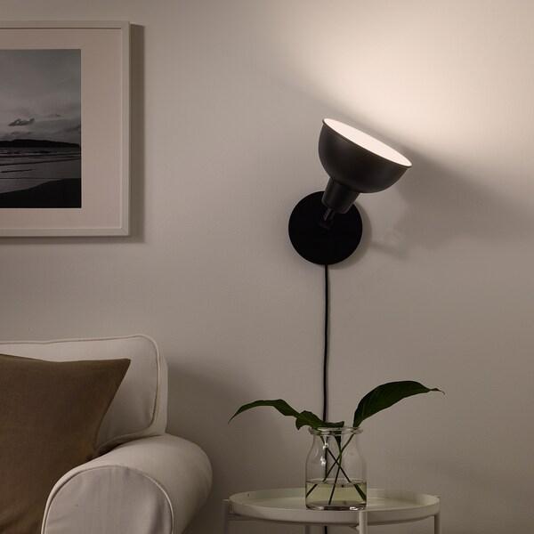 SKURUP Pöytä-/seinävalaisin ylösp val, musta
