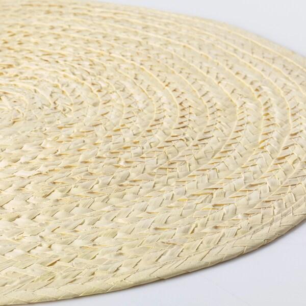 SLUTEN tabletti palmunlehti/luonnonvärinen 37 cm